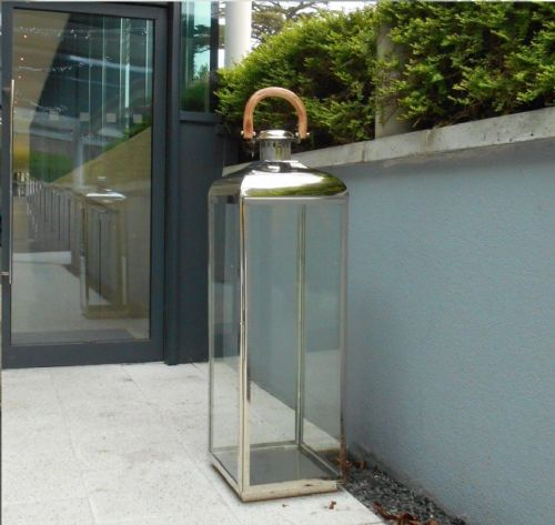 Polished Stainless Steel Square Lantern
